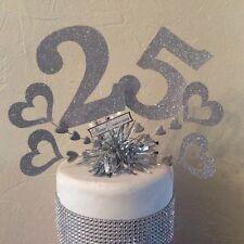 Silver wedding anniversary 25th Anniversary cake topper