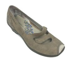 Merrell 7 Womens Shoes Gabriella Brindle Mary Jane Style Brushed Taupe Leather