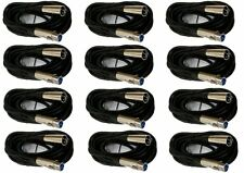 12 Lot- 10FT XLR 3Pin Male Female Mic Microphone Audio Shielded Cord Cable 10'Ft