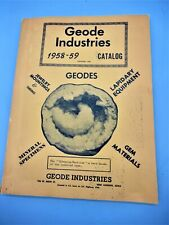 Geode Industries 1958-1959 142 Page Catalog: Geodes Minerals, Lapidary Equipment