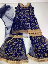 $29  Deal Wedding  Party wear  Girls Sharara Suit Set Indian Size 34 Fits 10 YR