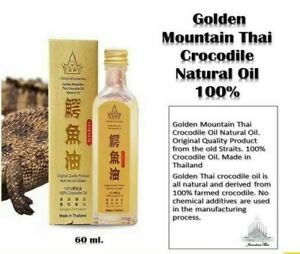 60 ml Golden Mountain Thai Crocodile Natural Oil 100% No Chemical Exclusive Farm