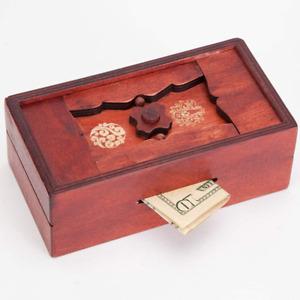Genius Japanese Secret Puzzle Box Brainteaser Money Holder Storage Compartment