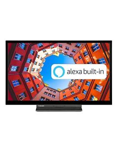 Toshiba 24WK3A63DB 24-Inch HD Ready Smart TV with Freeview Play, Alexa Built-in