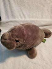 "New listing Brown Wild Republic Manatee Plush 2012 Sea Mammal Cow Florida Endangered 18"""