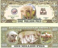 Pigs Sow Piglets Porcus Domesticus Dollar Bills x 2 New