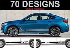 bmw x6 side stripes decals stickers graphic side stripe fit BMW X6