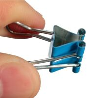 10Pcs Binder Clip 19mm Metal Classic Office Stationery Paper Documents Clip New
