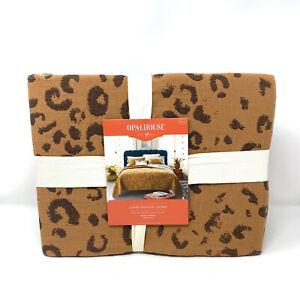 NEW Target Opalhouse Leopard Matelasse King Coverlet Animal Print Cotton Cheetah