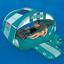 SportsStuff Cabana Islander Lounge Pool Lake Water Float Raft & Cooler 54-1920A
