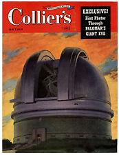 Rare Orig VTG 1949 Palomar's Giant Eye Collier's Magazine Cover Only Art Print