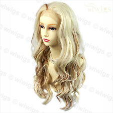 Wiwigs Long French Lace Front Wavy Blonde & Burgundy Ladies Wig
