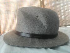 Stetson All American Brown  Fedora  100%Wool  Hat - Medium