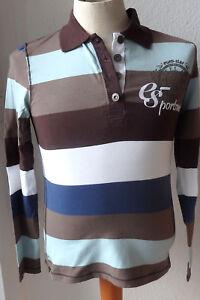 Euro Star  Damen Polo Shirt, Audrey Langarm, Gr. M, ebony-earth-ice