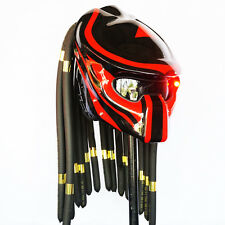 2017 Predator Helmet Glossy Red Open Face Motorcycle Custom Alien Mask Casco New