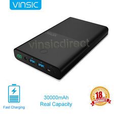 Vinsic 30000mAh Power Bank DC&USB External Portable Charger for Cell Phone Table