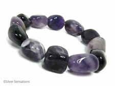 "Natural Amethyst Fine Bracelets 7 - 7.49"" Length"