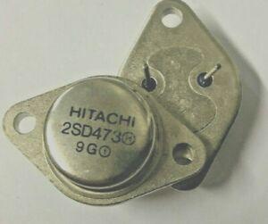 2 Pieces | 2SD473 Original New Hitachi Silicon NPN Transistor D473 ECG293