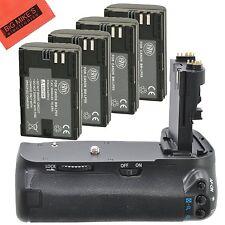 BG-E9 Replacement Battery Grip for Canon EOS 60D EOS60D + 4 LP-E6 Batteries