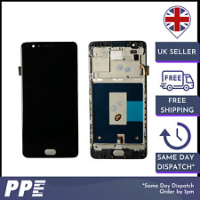 Para uno más tres Pantalla Táctil Digitalizador Pantalla LCD con marco negro