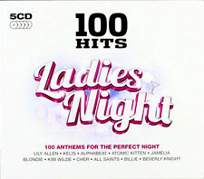 100 GREATEST HITS LADIES NIGHT NEW AND SEALED 5 CD BOX SET 60s,70s,80s,90s ETC