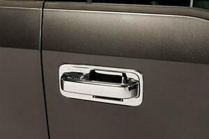 Chrome Door Handle Covers for 2017-2020 Ford Super Duty 4 Door w/Keyhole