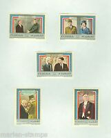 FUJEIRA CHARLES  De GAULLE MEMORIAL WITH KENNEDY CHURCHILL IMPF  SET MINT HINGED