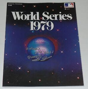 ENRIQUE ROMO SIGNED AUTO'D 1979 WORLD SERIES PROGRAM PITTSBURGH PIRATES MLB