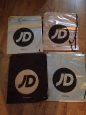 Four  JD Sports Duffle Bags Swim/Gym Sports Bag Drawstring Carrier Festival