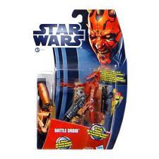 Hasbro 37751 / MH04 Star Wars Battle Droid Red Movie Heroes blaue Karte Neu