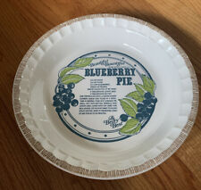 VINTAGE Blueberry Recipe Pie Plate Country Harvest Royal China Deep Dish USA