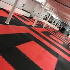 40mm Martial Arts Jigsaw Mats 1m2 Red/Black Karate TKD Yoga Judo BJJ Kickboxing