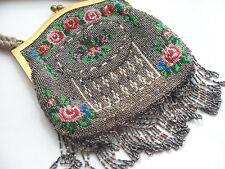 Antique Fleur Design Perles Travail Femmes Sac A Main