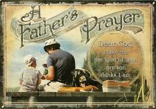 "A Father's Prayer - New 12"" x 17"" Rolled Edge Quality Tin Sign For Father's Day"