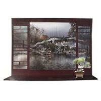 Decoracion efecto 3D ventana paisaje chino patrón adhesivo adhesivo de pared