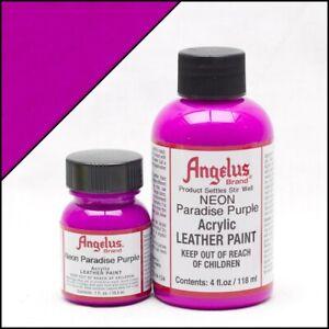 Angelus Acryl Lederfarbe Neon Paradies Violett 29,5ml (20,17€/100ml) Schuhfarbe
