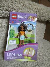 Lego Friends Andrea Key Chain Light LED lite Feet AA Girl Movable Arms New