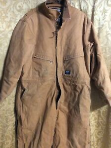 Walls Blizzard Pruf Thermal Insulated Coveralls 2XL duck Brown carpenter chores