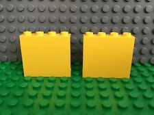 LEGO 2x Lot YELLOW Panel 1 x 4 x 3 with Solid Studs 4030, 4549, 6542, 4563, 6541