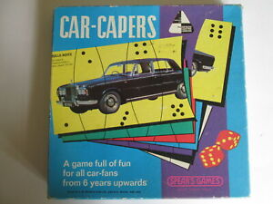Car Caper car game by Spear's games.Vintage game.