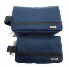 Tumi Small and Medium Travel Kit Zipper Cord Pouch Navy Blue, Set of 2