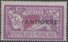 """ANDORRE STAMP TIMBRE N° 20 """" MERSON 3F LILAS ET CARMIN """" NEUF xx TTB  K263"""