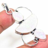 """Tripelet Fire Opal Handmade Ethnic Style Jewelry Pendant 2.36 """"  AA-340"""