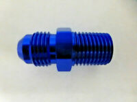 Russell 660440 Straight Male Adapter Fitting AN6 -6 6AN Flare to 1/4 NPT Blue