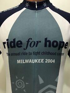 Voler Mens M 1/2 Zip Short Sleeve Bike Jersey Gray White Black Milwaukee 2004