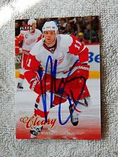 Detroit Red Wings Dan Cleary Signed 08/09 Fleer Ultra Card Auto