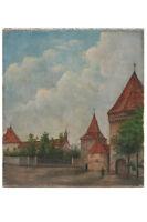 Elsässische Kleinstadt mit Stadtmauer, 1920er Jahre