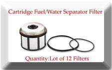 Lot of 12 FD4596 Fuel Filter Fits: Ford F & E Series 7.3L Powerstroke Diesel