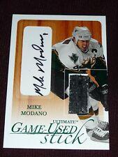 2003-04 BAP Ultimate Memorabilia MIKE MODANO Game Used Stick Autograph 4/30 Auto