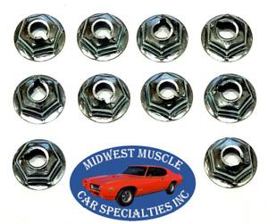 "Ford Lincoln Mercury 1/4""-20 Thread Pal Speed Nuts Dash Trunk Firewall 10pcs LB"